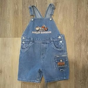 Harley Davidson Toddler Denim Overalls